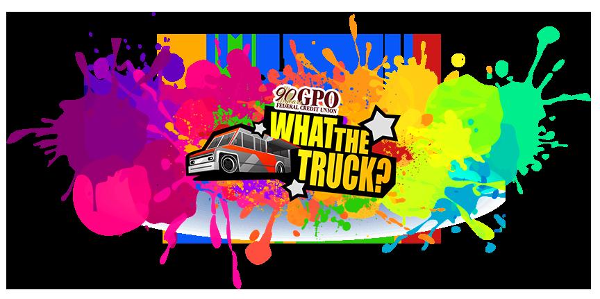 What The Truck Logo - Paint Splatter